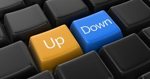 Up, down key concept Royalty Free Stock Image