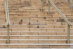 Urban staircase with handrails. Image of urban staircase with handrails Stock Images