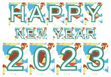 Colorful happy new year 2023 background vector illustration