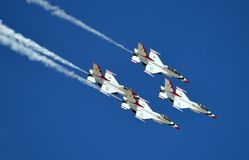 USAF Thunderbirds flying in formation Stock Photography