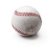 Image of used baseball isolated on white Royalty Free Stock Photography