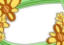 The ellow flower photo frame stock illustration