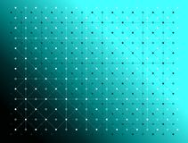 Dots and lines black and white colors texture pattern over gradient green background. Vector illustration. The image is useful as as background, backdrop Stock Photo