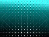 Dots and lines white color with shadow texture pattern over gradient green background. Vector illustration, EPS10. The image is useful as as background stock illustration
