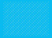 Dots and lines texture pattern in pastel colors yellow and pink on blue background. Vector illustration, EPS 10. The image is useful as background, backdrop Stock Photo