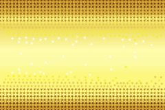 Seamless pattern of stars shapes in shading colors gold, brown, yellow, white on gold gradient yellow background. Vector illus. The image is useful as wallpaper stock illustration