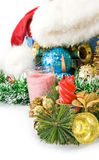Image of various Christmas decorations Royalty Free Stock Image
