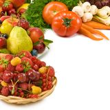 Image of various fruits and vegetables Stock Image