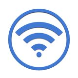 Image of various wifi sign symbol isolated on a white background. 3D rendering stock illustration