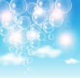 Air Bubble. This image is a vector file representing air bubbles flying in the sky. / Air Bubble Royalty Free Stock Photography