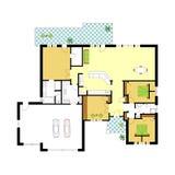 Architectural vector apartment floor plan vector illustration