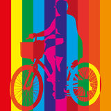 Ride bike riding bicycle vector Stock Photo