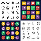 Amish All in One Icons Black vector illustration