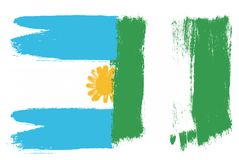 Argentina Flag. This image is a vector illustration and can be scaled to any size without loss of resolution Royalty Free Stock Images