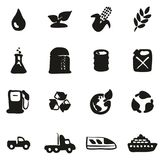Bio Fuel Icons Freehand Fill. This image is a vector illustration and can be scaled to any size without loss of resolution Royalty Free Stock Photo