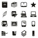 Book Publishing Icons stock illustration