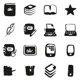 Book Publishing Icons Freehand Fill. This image is a vector illustration and can be scaled to any size without loss of resolution Stock Image