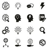Brainstorming or Idea Icons. This image is a vector illustration and can be scaled to any size without loss of resolution Stock Photos
