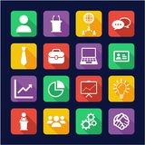 Business Meeting Icons Flat Design. This image is a vector illustration and can be scaled to any size without loss of resolution vector illustration