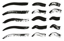 Calligraphy Paint Brush Curved Lines High Detail Abstract Vector Background Set 65. This image is a vector illustration and can be scaled to any size without vector illustration