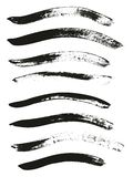 Calligraphy Paint Brush Curved Lines High Detail Abstract Vector Background Set 42. This image is a vector illustration and can be scaled to any size without royalty free illustration