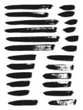 Calligraphy Paint Brush Lines Mix High Detail Abstract Vector Background Set 84. This image is a vector illustration and can be scaled to any size without loss royalty free illustration