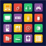 Computer Hardware Icons Flat Design. This image is a vector illustration and can be scaled to any size without loss of resolution vector illustration