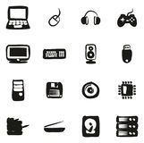 Computer Hardware Icons Freehand Fill. This image is a vector illustration and can be scaled to any size without loss of resolution vector illustration