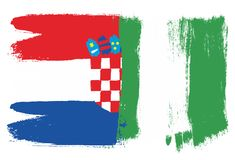 Croatia Flag. This image is a vector illustration and can be scaled to any size without loss of resolution Stock Photo