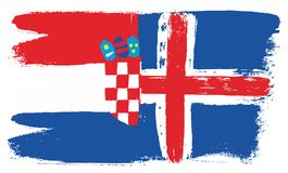 Croatia Flag. This image is a vector illustration and can be scaled to any size without loss of resolution Stock Image