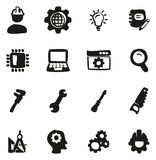 Engineering Icons Freehand Fill. This image is a vector illustration and can be scaled to any size without loss of resolution Royalty Free Stock Photos