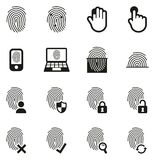 Fingerprint Icons. This image is a vector illustration and can be scaled to any size without loss of resolution Royalty Free Stock Image