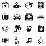 Honeymoon Trip Icons. This image is a vector illustration and can be scaled to any size without loss of resolution royalty free illustration