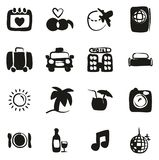 Honeymoon Trip Icons Freehand Fill. This image is a vector illustration and can be scaled to any size without loss of resolution vector illustration