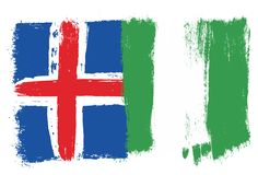 Iceland Flag. This image is a vector illustration and can be scaled to any size without loss of resolution Stock Image