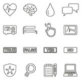 Lie Detector Test Icons Thin Line Vector Illustration Set Stock Photo