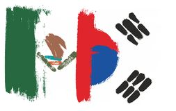 Mexico Flag. This image is a vector illustration and can be scaled to any size without loss of resolution Stock Photo