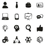 Office Worker Icons Freehand Fill. This image is a vector illustration and can be scaled to any size without loss of resolution Stock Images
