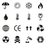 Package Or Cargo Marks Icons. This image is a vector illustration and can be scaled to any size without loss of resolution Royalty Free Stock Photography