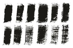 Paint Brush Wide Lines High Detail Abstract Vector Background Set 122. This image is a vector illustration and can be scaled to any size without loss of royalty free illustration