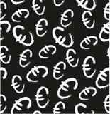 Pen Euro Symbol Seamless Pattern & Background Freehand Set 01 Stock Image