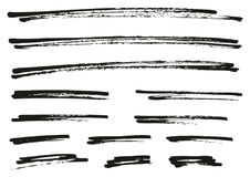 Pen Strokes Bold Grunge Line & Background Set 07. This image is a vector illustration and can be scaled to any size without loss of resolution royalty free illustration