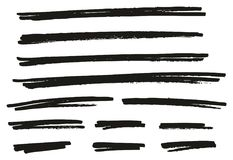 Pen Strokes Bold Line & Background Set 07. This image is a vector illustration and can be scaled to any size without loss of resolution vector illustration