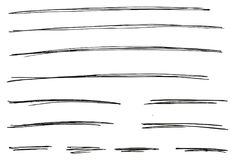 Pen Strokes Thin Line & Background Set 06. This image is a vector illustration and can be scaled to any size without loss of resolution stock illustration