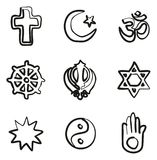 Religion Icons Freehand. This image is a vector illustration and can be scaled to any size without loss of resolution Stock Images