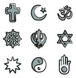 Religion Icons Freehand 2 Color. This image is a vector illustration and can be scaled to any size without loss of resolution Royalty Free Stock Photos
