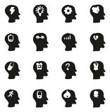 Stress & Pressure Icons Freehand Fill. This image is a vector illustration and can be scaled to any size without loss of resolution Royalty Free Stock Image