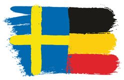 Sweden Flag. This image is a vector illustration and can be scaled to any size without loss of resolution Royalty Free Stock Image