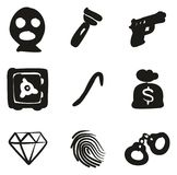 Thief Icons Freehand Fill. This image is a vector illustration and can be scaled to any size without loss of resolution Royalty Free Stock Photos