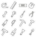 Tools Icons Thin Line Vector Illustration Set Royalty Free Stock Photo